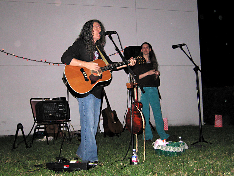 HairPeace Real Acoustic Duo at Vero beach Library Concert