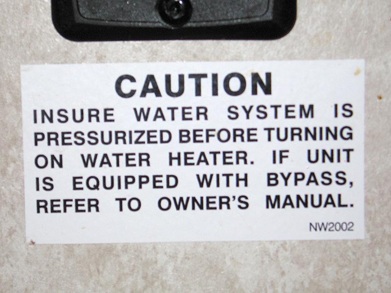 Pressurize RV Water Heater