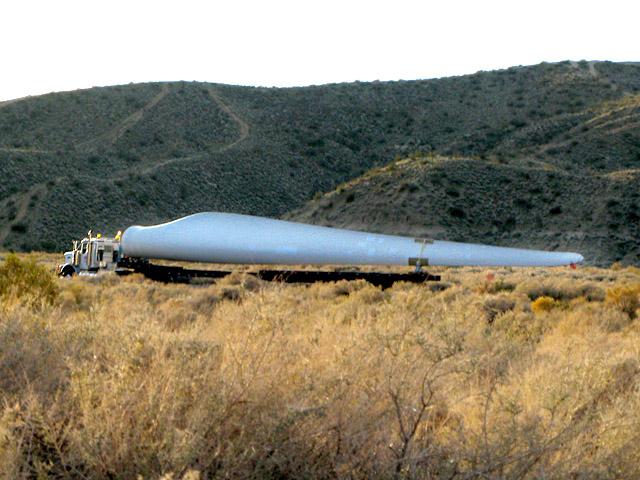 Wind Turbine Blade on Truck