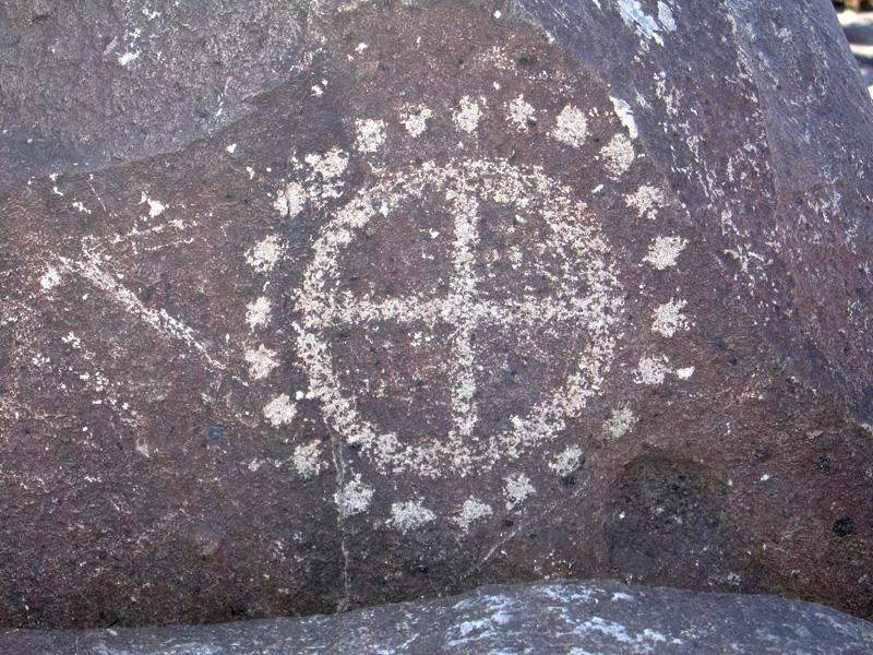 Jornada Mogollon Spaceship Petroglyph