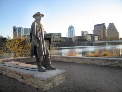 Stevie Ray Vaughn Statue in Austin, TX