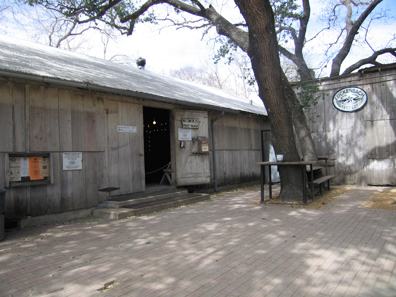 Outside the Luckenbach dance hall
