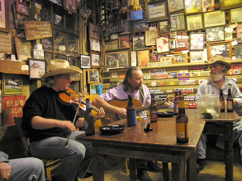 Dale Mayfield and Levi Darr at Luckenbach
