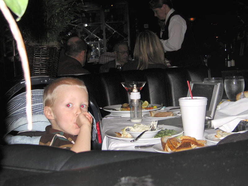 DVD Kid During Dinner at the Dal Rae