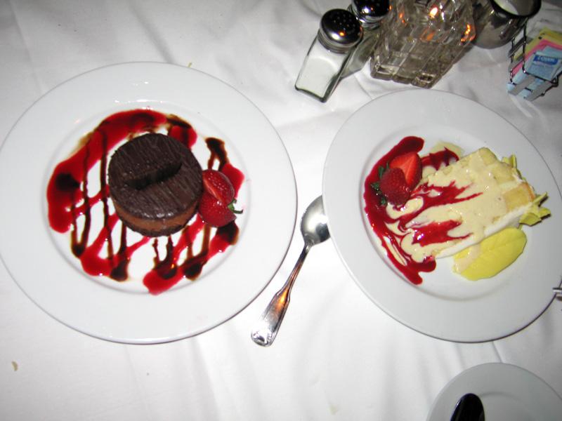 Dessert at The Dal Rae