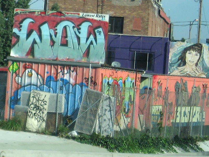 Graffiti Artists Los Angeles. Driving around Los Angeles,