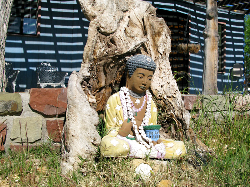 Buddah Statue at Riverbend Hot Springs, NM