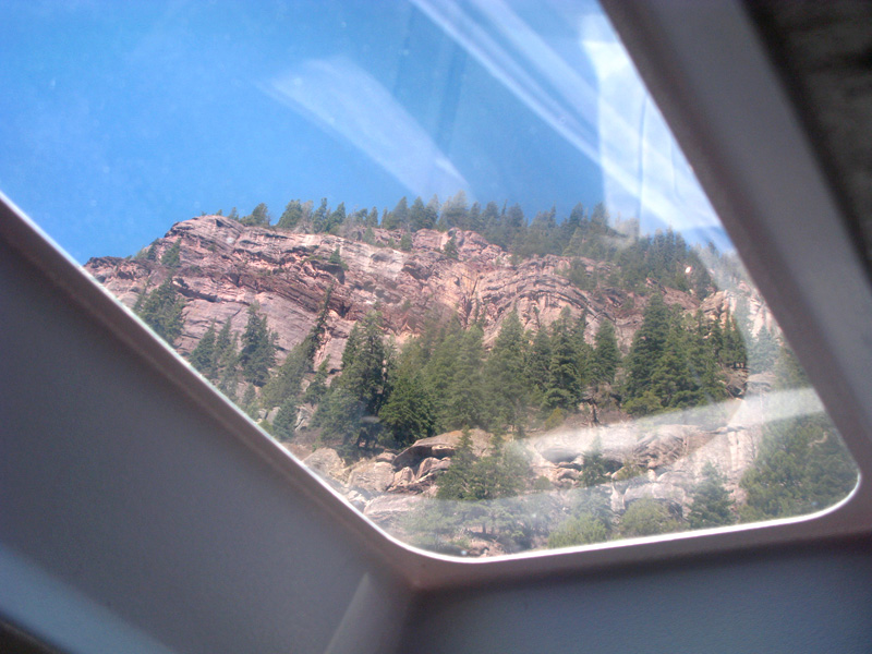 Ouray Bluff through RV Skylight from 4J+1+1 Campground