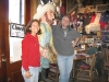 Enjoying our 11th Anniversary dinner at Handlebars in Silverton
