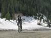 Mountain Biking up Silverton Mountain to the Ski Resort