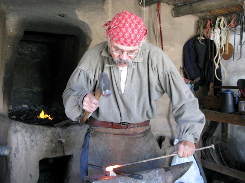 Blacksmith at Rancho de las Golandrinas