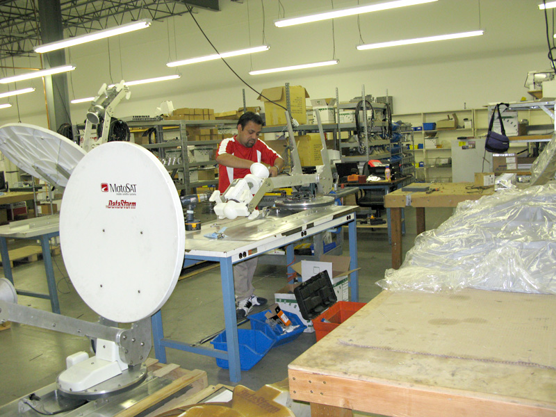 motosat satellite internet dish factory assembly and repair