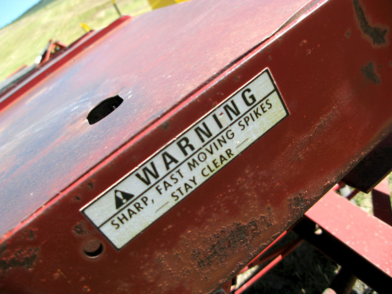 New Holland Stacker Safety Warning
