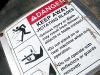 Mower Implement Safe Haying Warning Sign