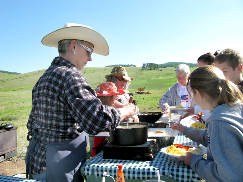 Paulette Vickers serves best biscuits and gravy on Breakfast Ride