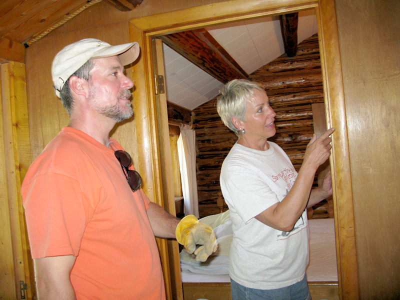 Paullette Vickers requests cabin maintenance from workamper Jim