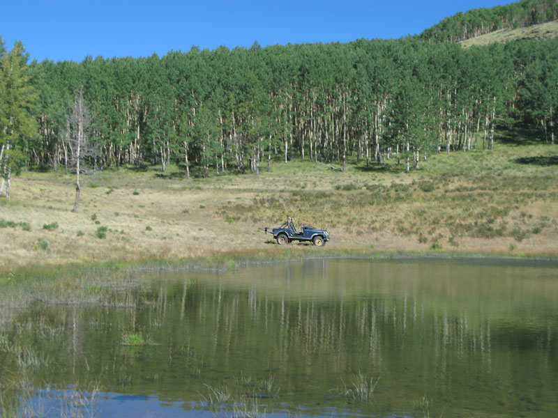 4WD Jeep to Joe Bob Lake for upper Vickers Ranch fishing