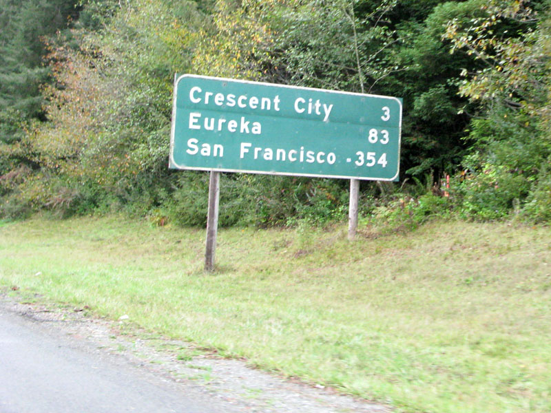 Del Norte Humboldt County Road Sign