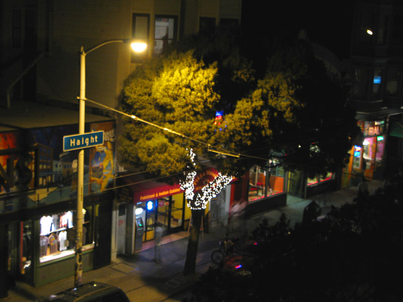 View of Haight Street from Red Vic room window