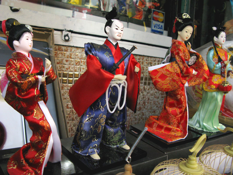 Samurai China Dolls in San Francisco Chinatown
