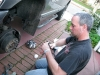 Jim applies brake noise spray to Dodge Ram 2500 squeaky brakes
