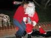 Santa and a good little girl Christmas Eve