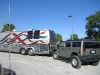 07. Custom RV bus towing the Hummer Toad