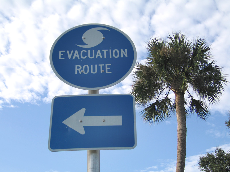 hurricane evacuation sign st augustine fl