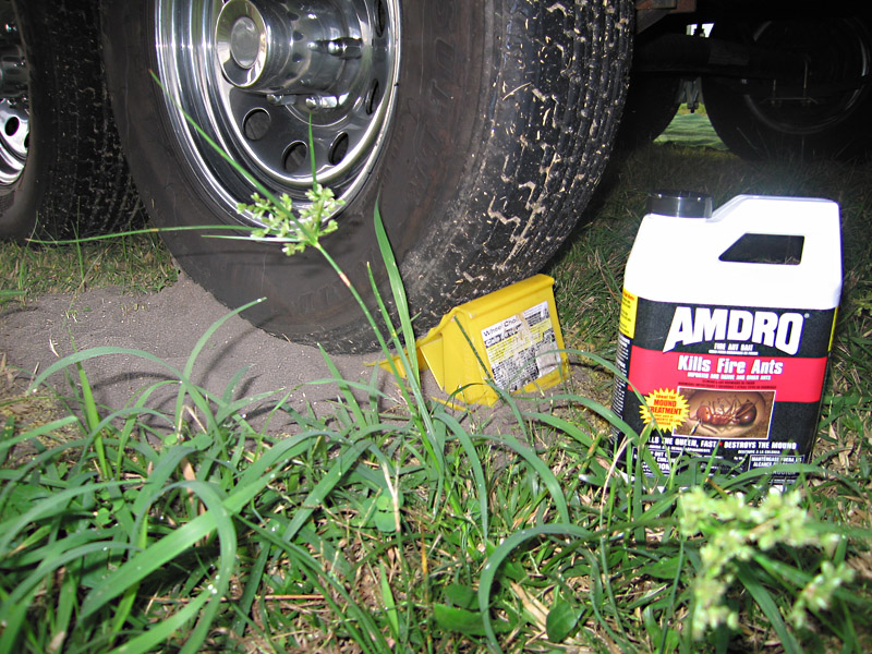 Amdro for Fire Ants under RV wheels