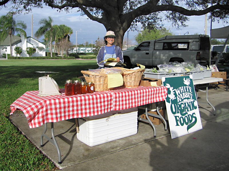15. Rene at the Vero Beach Farmers Market