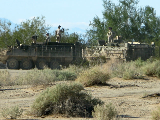Military Maneuvers on the Slabs near Niland, CA