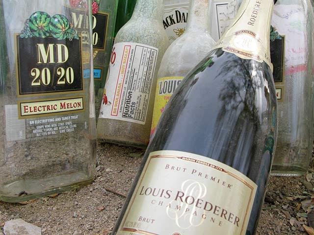 Slab City Liquor for East Jesus Bottle Wall