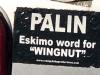 Anti Palin Sticker Skagway, Alaska