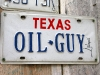 Texas Oil Guy License Plate in Luckenbach