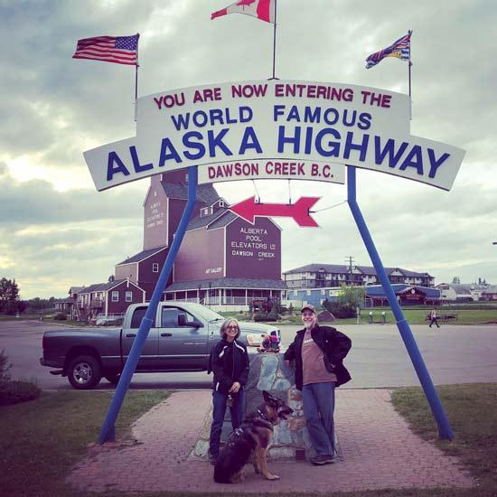 Alaska Highway Mile 0 Marker