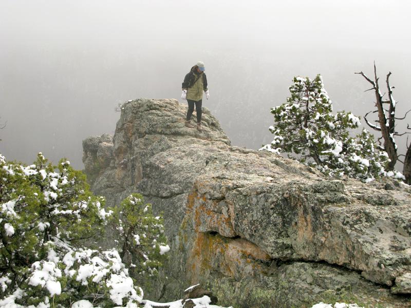 Rene Climbing Chasm at Black Canyon National Park