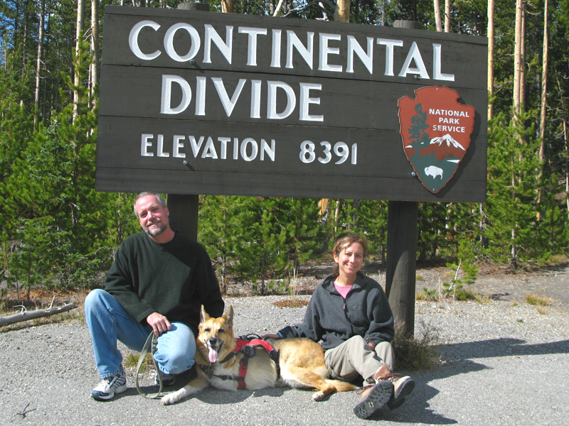 Road trip family crosses Continental Divide in Yellowstone