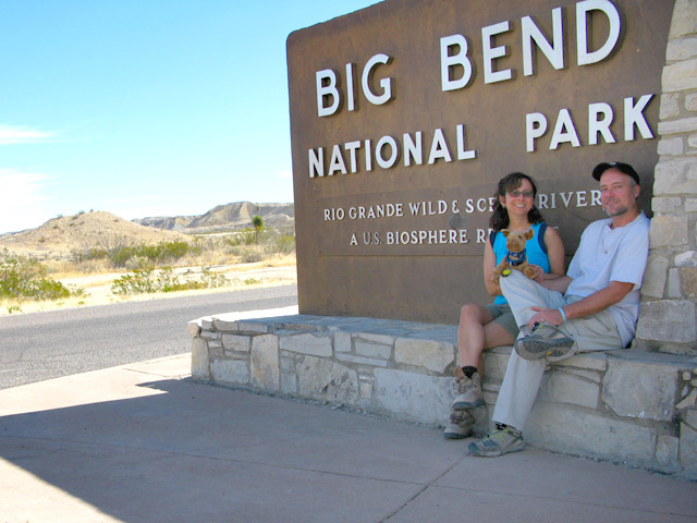 Jim, Rene and Spirit at Big Bend National Park