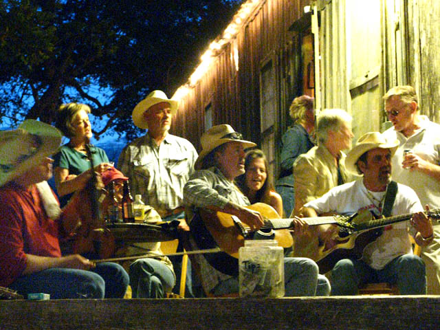 Levi Darr and Dale Mayfield Pickin at Luckenbach