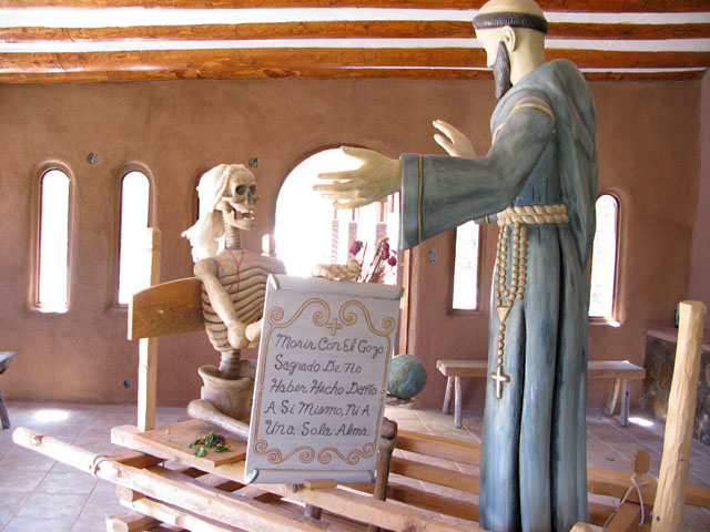 New Wood Carving at Santuario de Chimayo, New Mexico