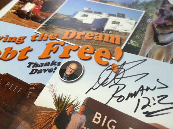 Dave Ramsey, full-time, RVing, debt-free