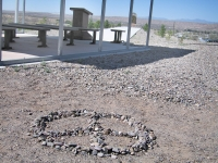 Our Peace Rocks at the T or C War Memorial