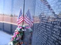 Vietnam Wall Replica at Veteran's Park in T or C, NM