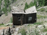 Old mining ghost town on Alpine Loop road to Engineer Pass