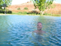 Stinky Hot Mineral Bath Pool at Thermopolis Fountain of Youth RV Park