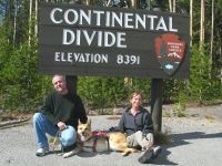 Crossing Continental Divide with Jerry in Yellowstone