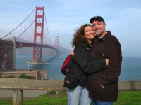 Another loving couple at the Golden Gate Bridge