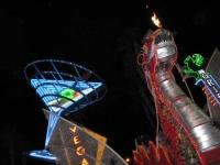 Fremont Street Las Vegas Halloween 2013 Dragon Art Car