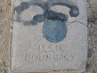 Gopher Flats Slab City Golf Course Naval Boundary Marker