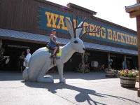 Riding the Giant Jackalope